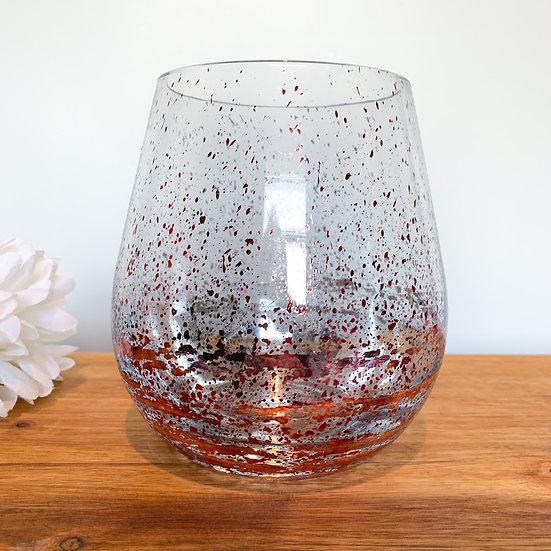 Jumbo Stemless Glass Candle - Metallic Rose