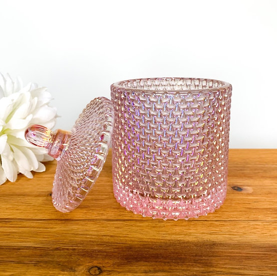 Pearl Pink Raindrop Geo Candle