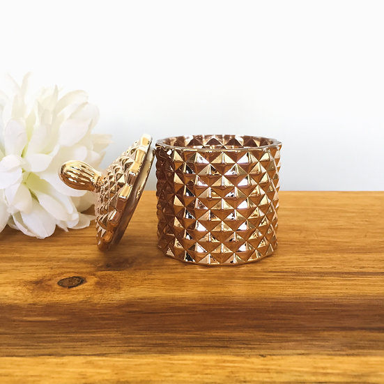 Rose Gold Mini Geo Candle