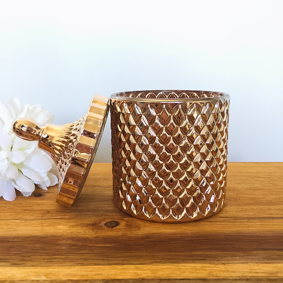 Rose Gold Large Geo Candle