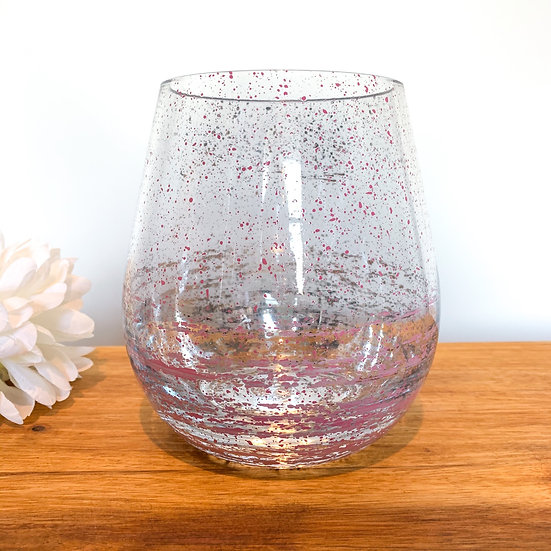 Jumbo Stemless Glass Candle - Pink
