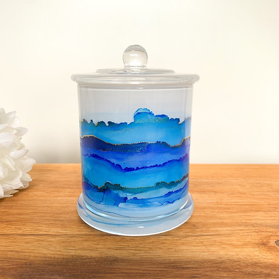 Blackberry & Bay - Blue Handpainted XL Candle Jars