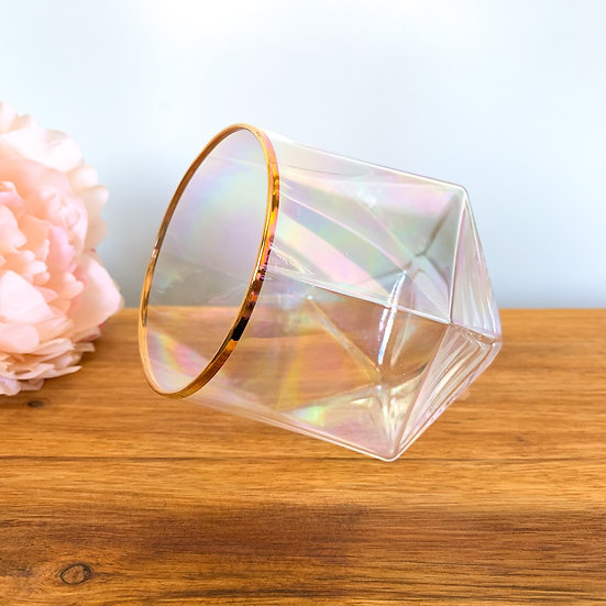 Pearl Prism Glass Candle