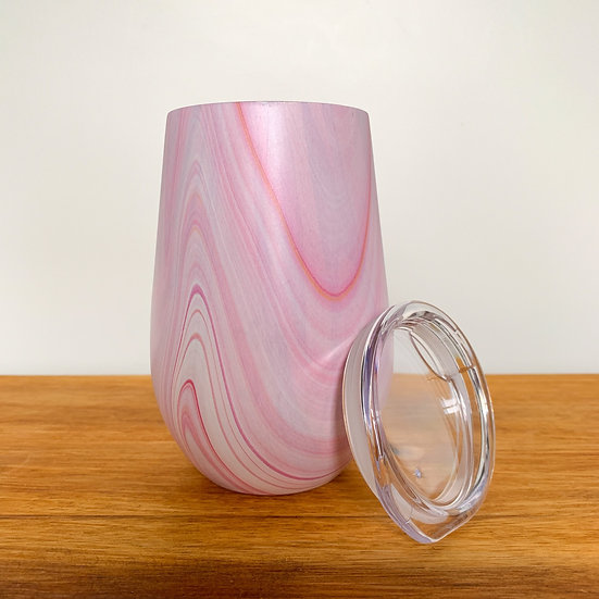 Pink Wave Candle Keep Cup
