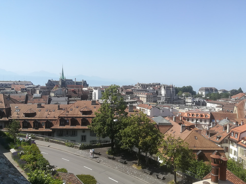 Vue sur la ville, depuis la Cathédrale de Lausanne