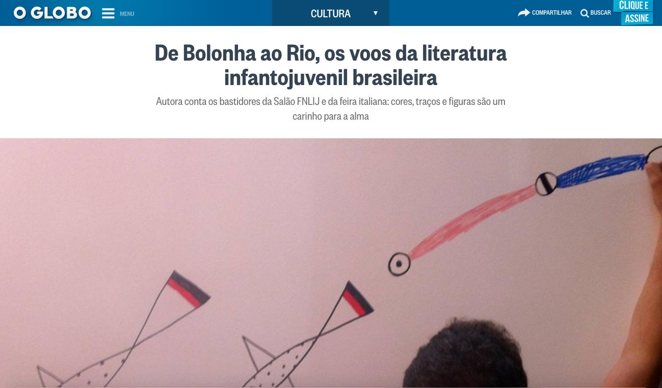 Texto publicado no site O Globo