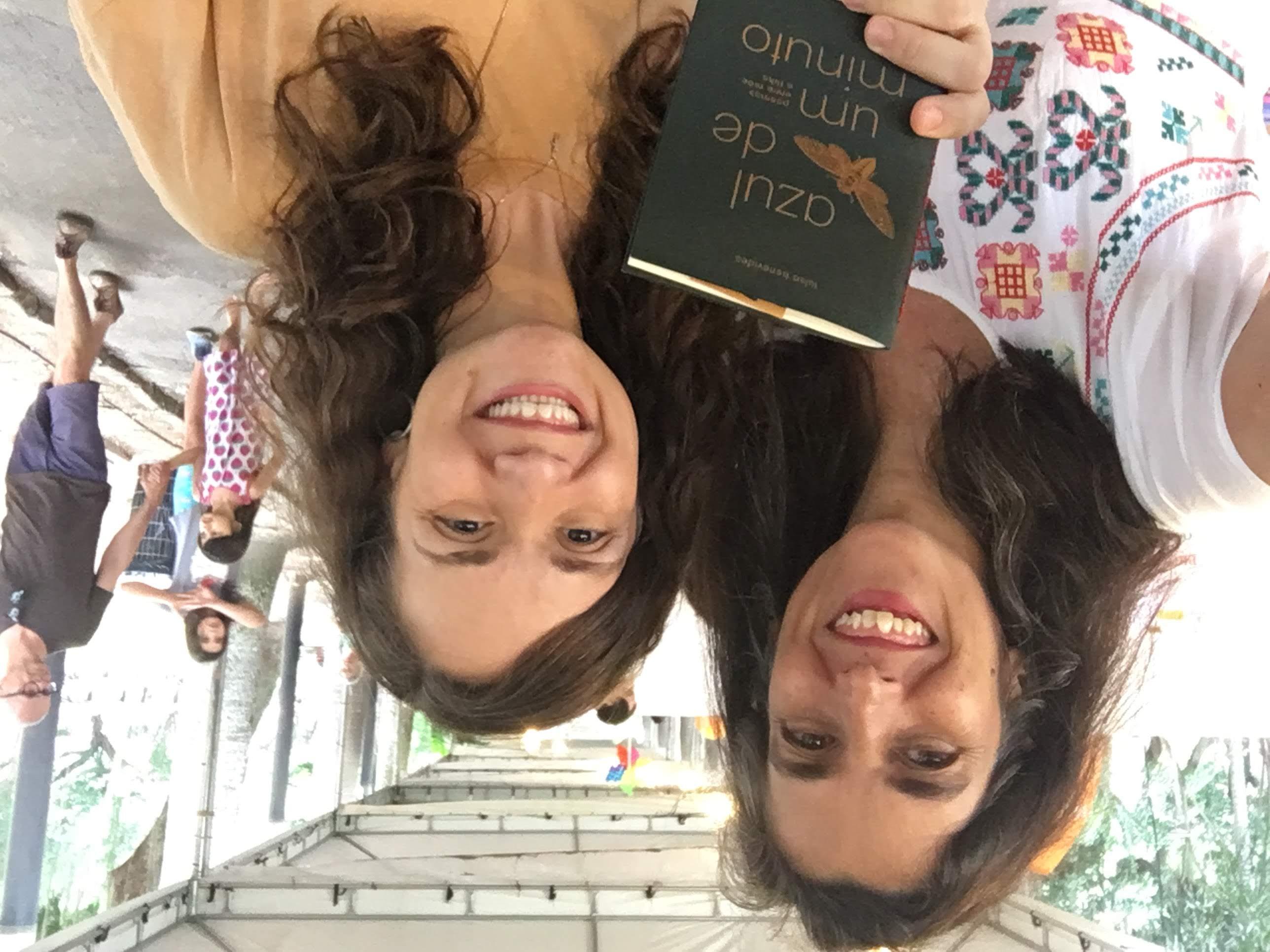 Com a biblioterapeuta Cristiana Seixas na Primavera Literária, 2019