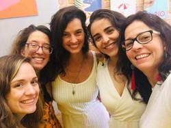 Com Sol Mendonça, Isabelle Borges, Natasha Llerena e Mirna Brasil Portella