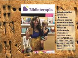 azul de um minuto no Círculo de Biblioterapia mediado por Cristiana Seixas