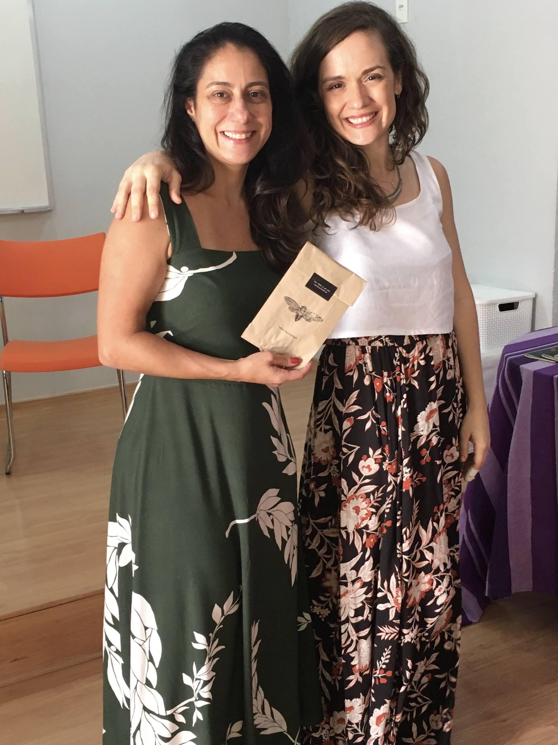 Com a escritora Patrícia Capella