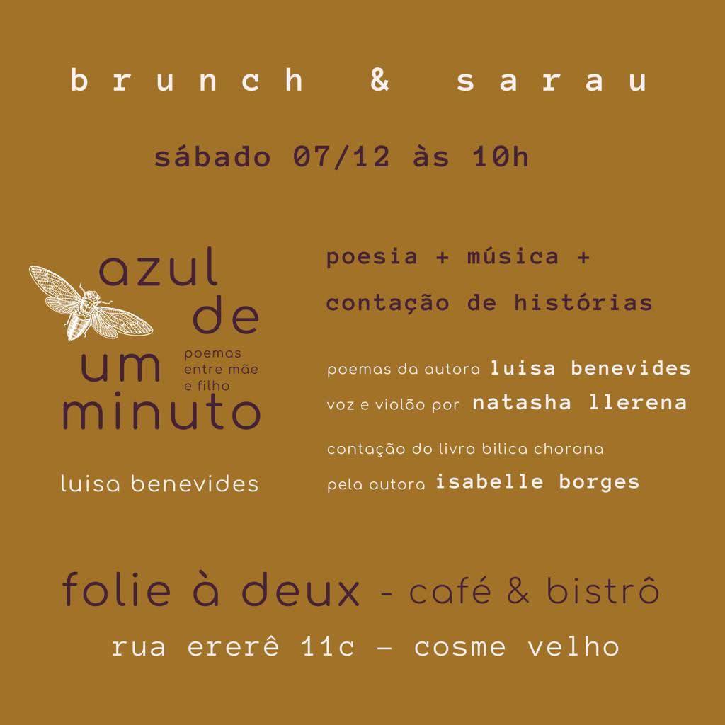 Sarau azul de um minuto, com Isabelle Borges e Natasha Llerena no Folie à deux - café & bistrô, 2019