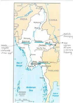 trasa podróży po Birmie ( Myanmar)