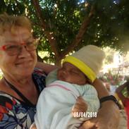 z Józkiem - w wieku 1 miesiąca