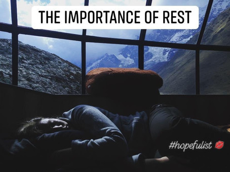 Get your rest!