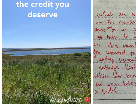 Give yourself the credit you deserve