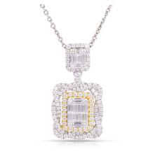 Diamond Pendant in 18K White & Yellow Gold