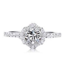 Classic Diamond Ring Wrapped by Round Diamonds