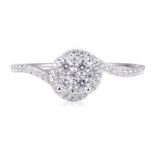 Diamond Ring with Wavy Shank