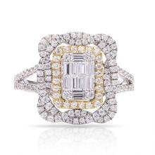 Diamond Ring in 18K White & Yellow Gold