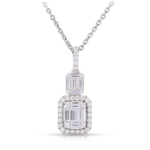 Diamond Pendant in Geometric Design
