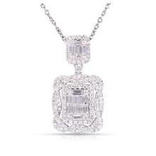 Diamond Pendant in 18K White Gold