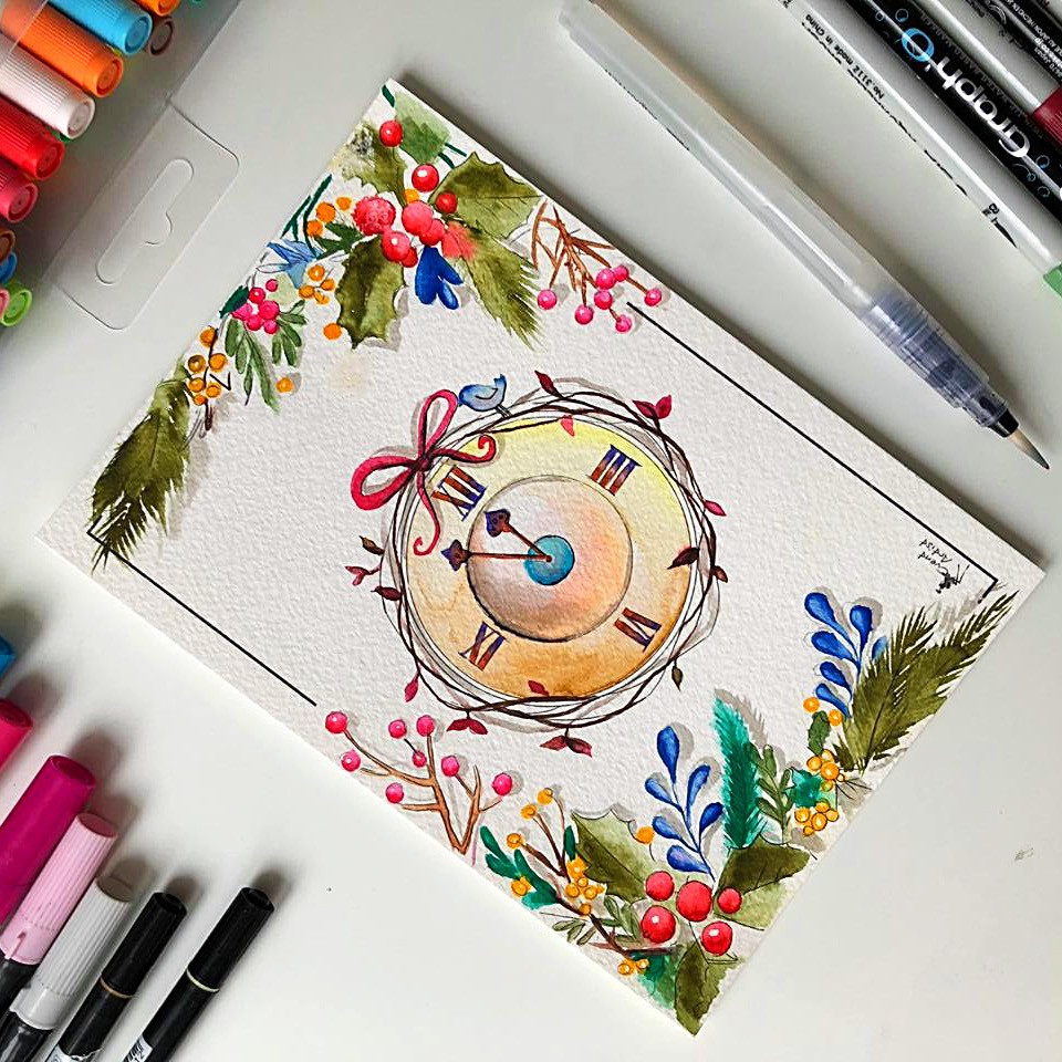 Создание скетча открытки