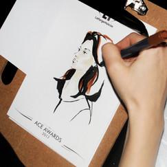 Скетч портрет. Скетчи на мероприятие. +7 (926) 216-58-86