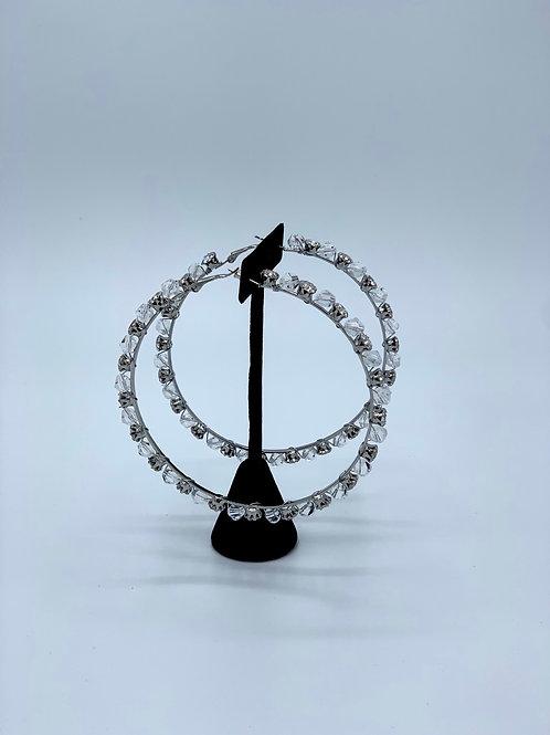 Chrystal Me Silver Hoops