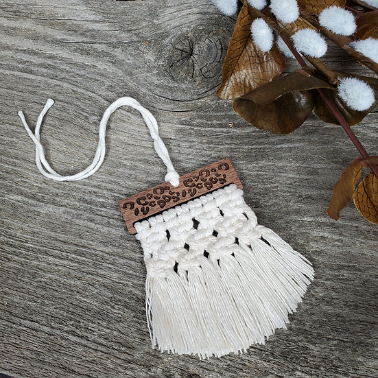 Knotted Leopard Macrame Diffuser