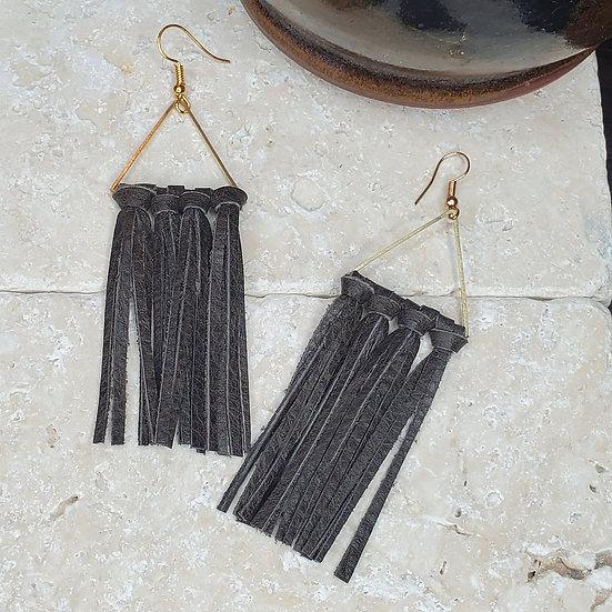 Triangle Genuine Leather Tassel