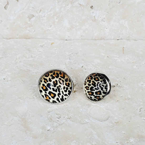 Leopard Studs 10mm and 12mm