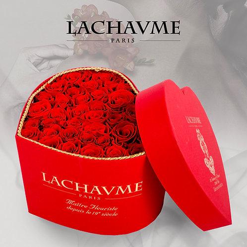 Coffret de roses rouges éternelles Valentine