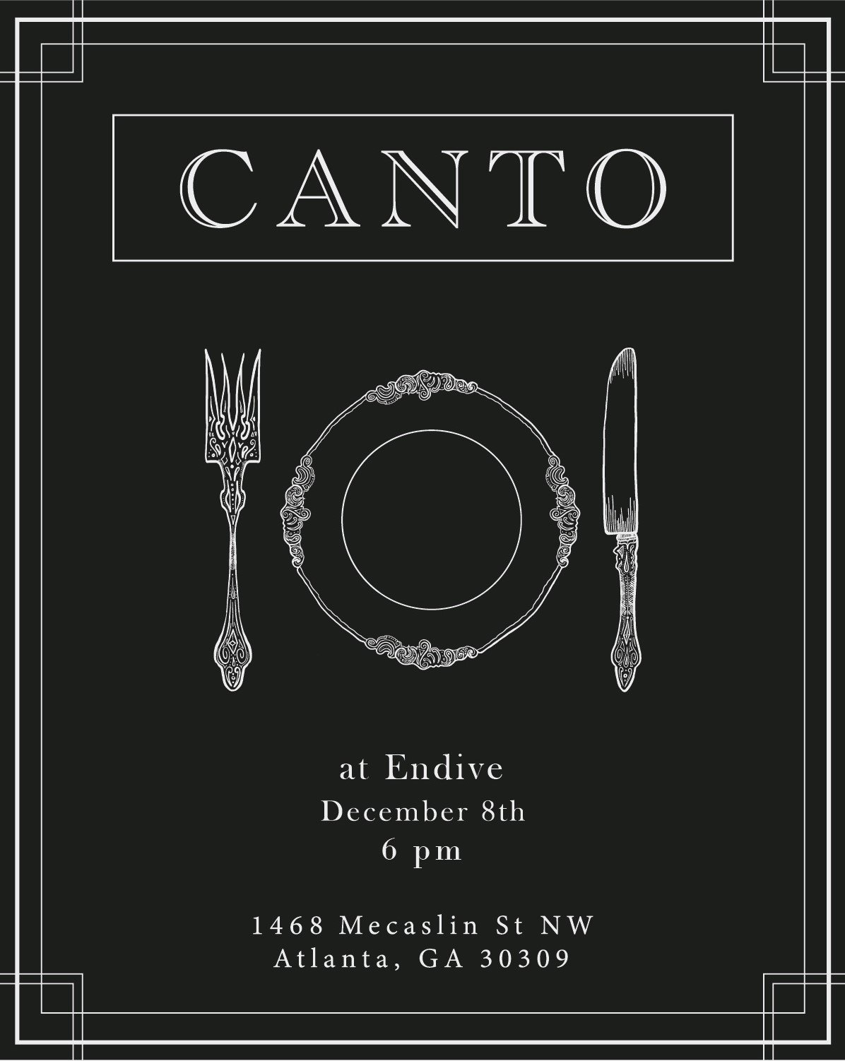 Canto Social Club Flyer