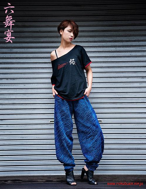 Kanji design Collarbone T-shirt / 漢字デザインの鎖骨ネックカットソー