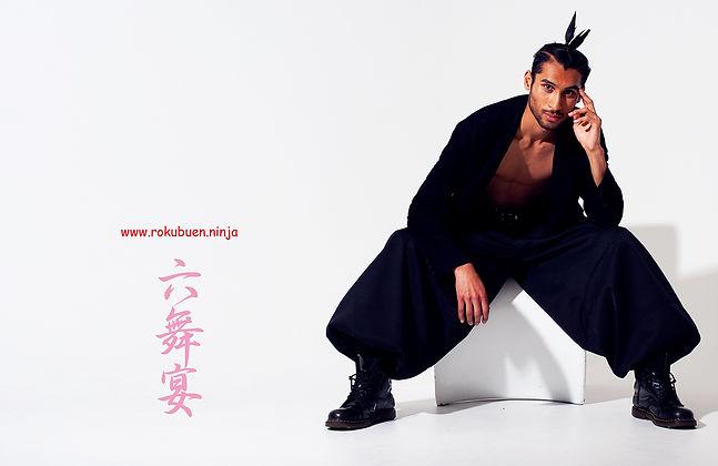 六舞宴,和風,コスプレ,ファッション,ブランド,日本,侍,忍者,大きいサイズ,広告