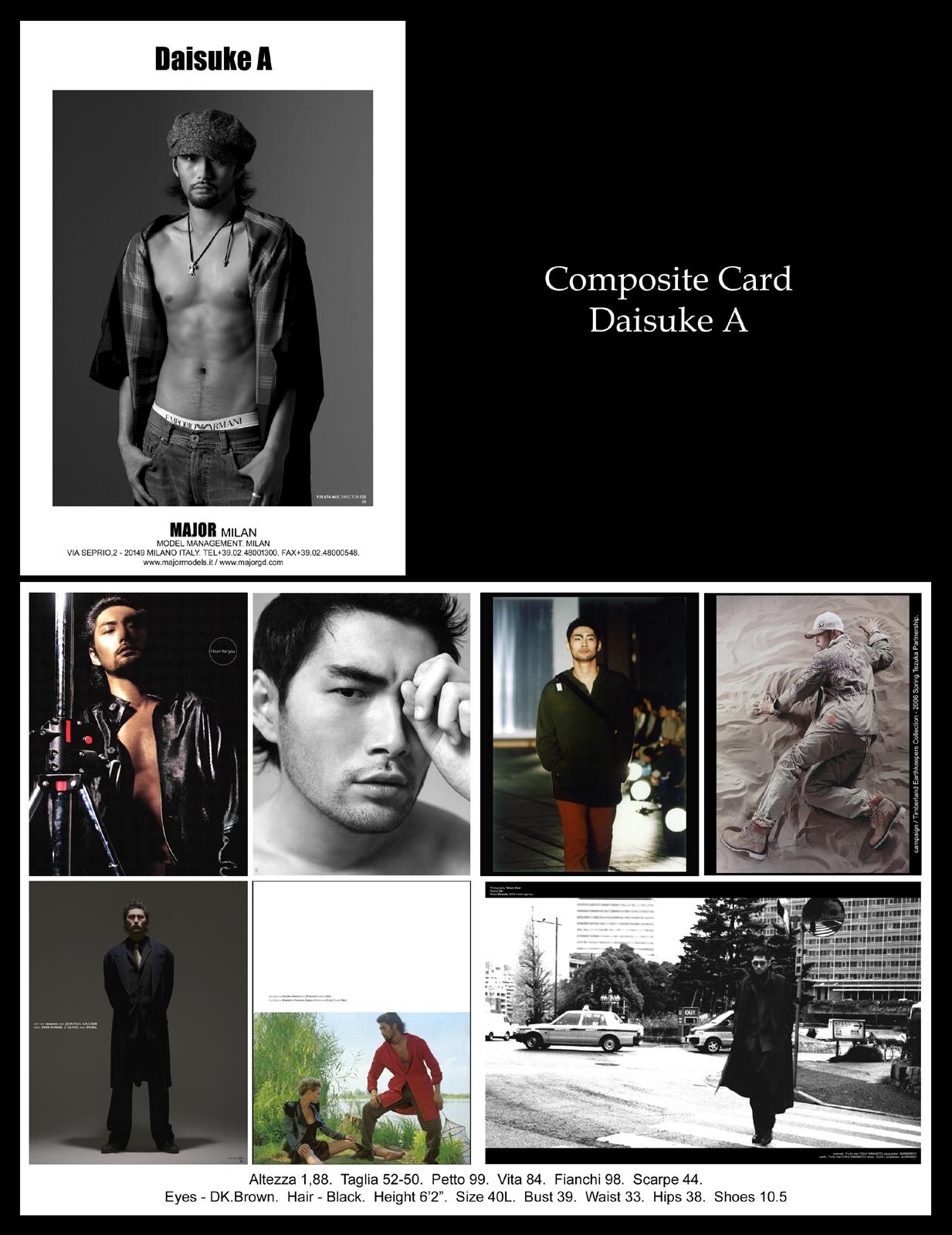 モデルになる方法 コンポジットカード ダイスケ Daisuke A