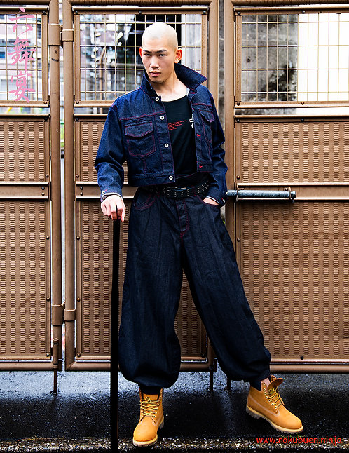Denim Pants of Samurai Kimono / 馬袴風デニムパンツ