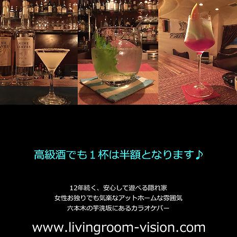 vision,pleasant,六本木,カラオケ,バー,有名,隠れ家,高級酒,半額