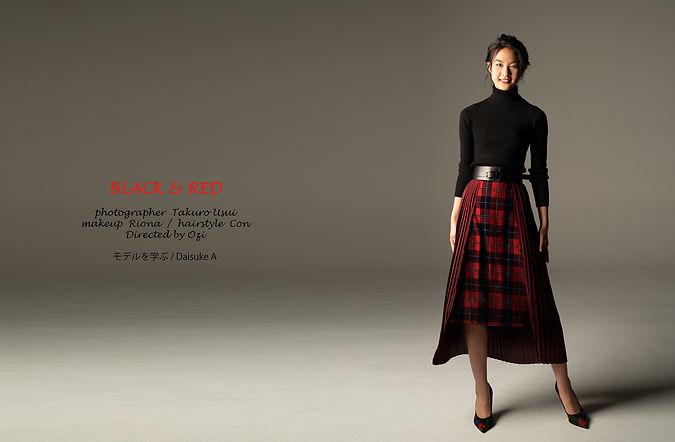 riok,小屋敷りお,blackandred,黒と赤,directedbyozi,daisukea,モデルを学ぶ,ファッション,モデル,レッスン