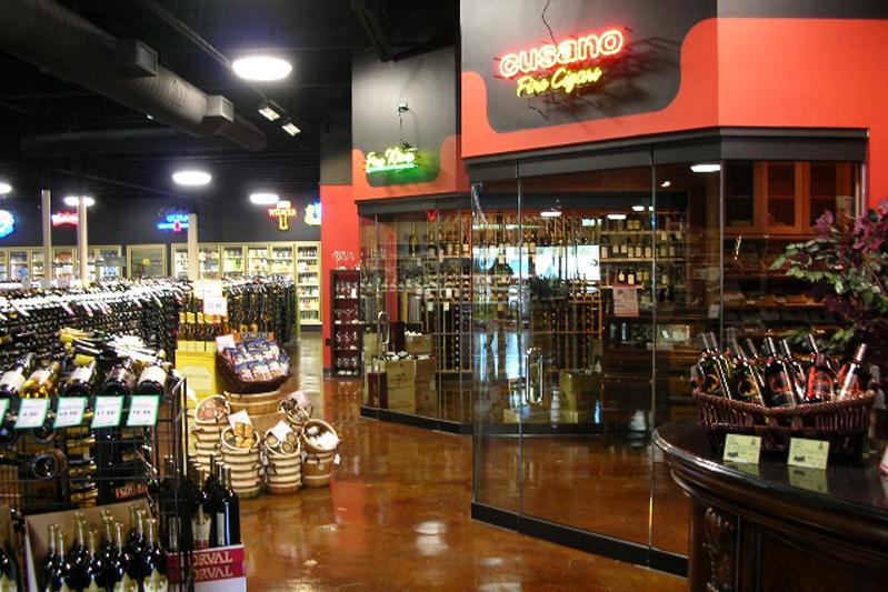 majestic-greenville-avenue-wine-cigar-displays
