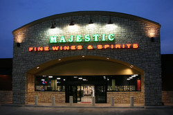 majestic-beer-wine-spirits-night-time-building-signage