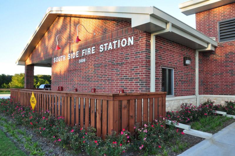 dennison-fire-station-signage-landscaping
