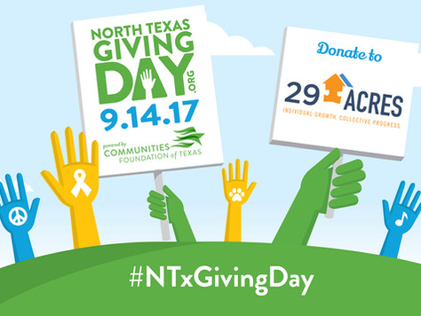 On North Texas Giving Day, Please Consider 29 Acres