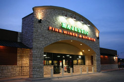 majestic-beer-wine-spirits-night-time-building