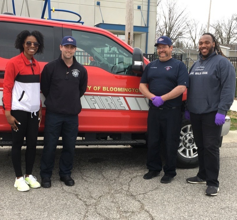 The Bloomington Fire Department gave of their time to deliver to communities