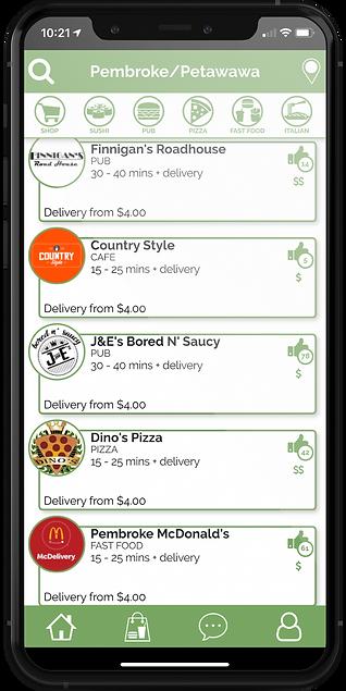 Valley Eats App on Phone