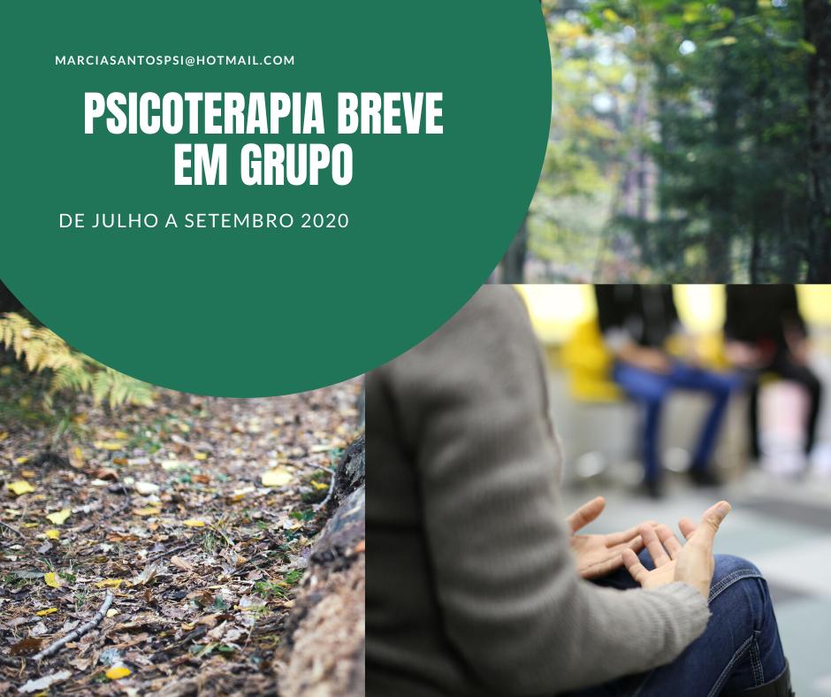 PSICOTERAPIA BREVE EM GRUPO QUARTA-TARDE