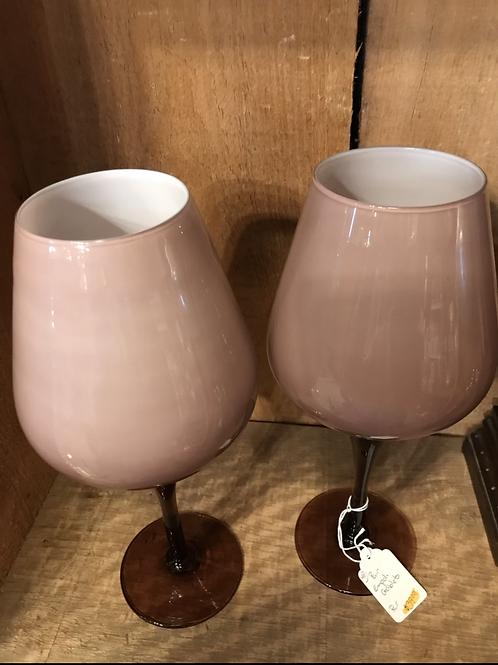 Pair Empoli Goblets