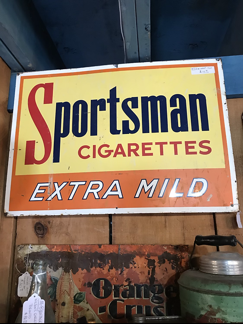 Sportsman Cigarette Sign