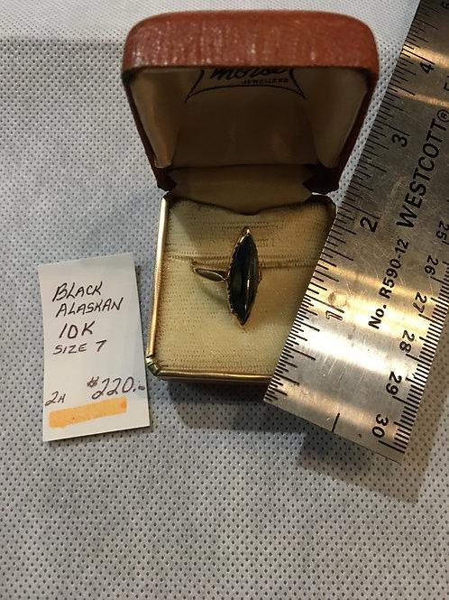 Black Alaskan 10 K Ring